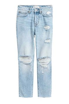 Girlfriend Jeans - Light denim blue/Trashed - Ladies | H&M 1