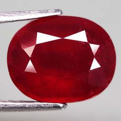 5.69 Ct. Glorious! Natural Ruby Oval Facet Top Blood Red Madagascar #Gemnatural