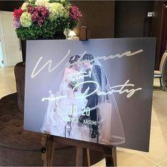 ソストレーネグレーネ Wedding Signage, Wedding Menu, Wedding Paper, Diy Wedding, Wedding Couple Photos, Wedding Images, Wedding Designs, Wedding Welcome Board, Welcome Boards