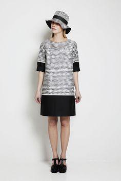 Marimekko spot print shift dress.