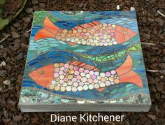 Mosaic Fish Stepping Stone for Zac                                                                                                                                                      More