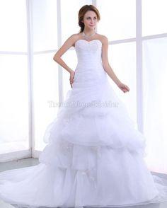 Prinzessin Spitze lockeres Brautkleid mit Plissierungen