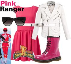 """""""Pink Ranger - Power Rangers"""" by lilyelizajane on Polyvore"""