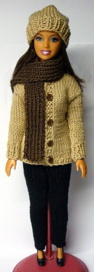 sweater pattern (no. 880) out of 1150 knitting patterns for Barbie(Diy Ropa Barbie)