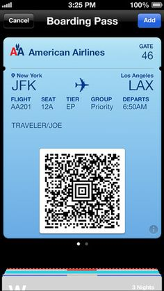 AA on the iPhone. I wish Virgin America would have an elevate passbook card and tickets.