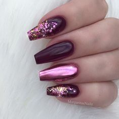 The cute acrylic nails are perfect for winter vacation Hope you . - The cute acrylic nails are perfect for winter vacation Hope you … – Beauty – The c - Coffin Nails Glitter, Cute Acrylic Nails, Acrylic Nail Designs, Gold Glitter, Glitter Hair, Purple Nail Art, Pink Nails, Gel Nails, Manicures