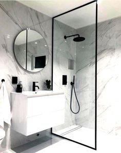 bathroom ideas * bathroom ideas _ bathroom ideas small _ bathroom ideas on a budget _ bathroom ideas modern _ bathroom ideas apartment _ bathroom ideas master _ bathroom ideas diy _ bathroom ideas small on a budget Bathroom Design Luxury, Modern Bathroom Design, Modern Bathrooms, Minimal Bathroom, Boho Bathroom, Bathroom Mirrors, Bathroom Inspo, Bathroom Designs, Marbel Bathroom