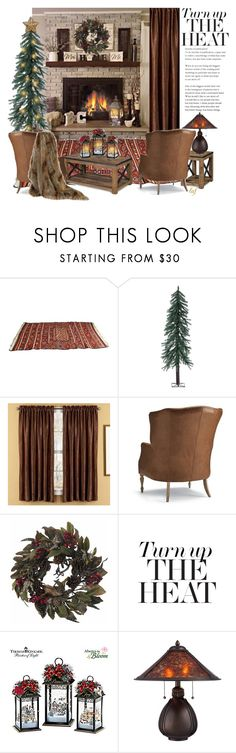 """Warm & Cozy"" by lois-boyce-flack ❤ liked on Polyvore featuring interior, interiors, interior design, home, home decor, interior decorating, Alpine, Elegant Home Fashions, Frontgate and Nearly Natural"