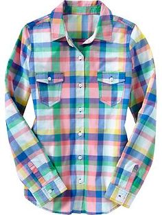 ordered this button-down for the day of the wedding (don't want to pull a shirt over your hair/makeup!)     Women's Lightweight Camp Shirts | Old Navy