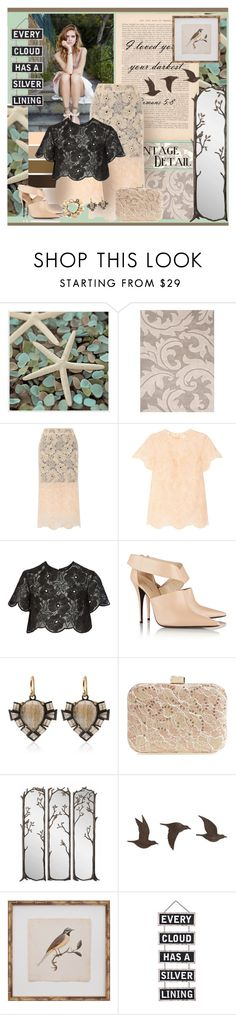 """""""Every cloud has a silver lining."""" by jenesaispas19 ❤ liked on Polyvore featuring Universal Lighting and Decor, Jaipur Living, Seed Design, Lanvin, Karla Åpetic, Narciso Rodriguez, Nak Armstrong, Jessica McClintock, WALL and Mirror Image Home"""