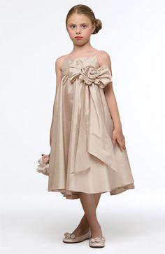 Us Angels Empire Waist Flower Sash Dress (Infant, Toddler & Little Girls) available at #Nordstrom