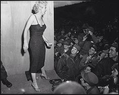 Public Domain: Marilyn Monroe with the Troops by Corporal Welshman, 1954 (NARA) | Vintage Public Domain Pictures
