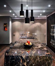 Finest kitchen & bathroom countertops in Toronto Easy Home Decor, Home Decor Kitchen, Kitchen Interior, New Kitchen, Modern Kitchen Cabinets, Kitchen Cabinet Colors, Interior Design And Technology, Open Plan Kitchen Living Room, Futuristic Interior