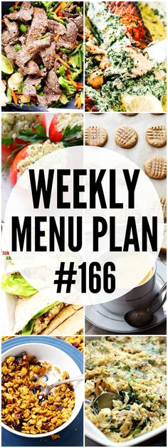 WEEKLY MENU PLAN ( - A delicious collection of dinner, side dish and dessert recipes to help you plan your weekly menu and make life easier for you! Ketogenic Diet Meal Plan, Diet Meal Plans, Meal Prep, Diet Recipes, Cooking Recipes, Healthy Recipes, Delicious Recipes, Weekly Menu Planning, Meal Planning