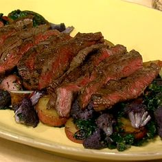 Michael Symon's Grilled Skirt Steak with Cauliflower Hash