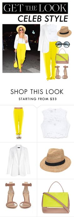 """""""Get the look"""" by xxellaxxx ❤ liked on Polyvore featuring P.A.R.O.S.H., Bebe, New Look, Gottex, Gianvito Rossi, Delpozo, Tom Ford, GetTheLook and hats"""