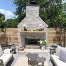 Side Patio With Outdoor Fireplace Fixer To Fabulous On Hgtv