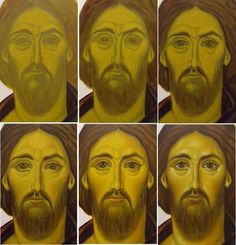 Religious Icons, Religious Art, Religious Images, Byzantine Icons, Byzantine Art, Mask Painting, Painting Process, Writing Icon, Monastery Icons