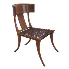 Early Robsjohn-Gibbings Klismos Chair for Saridis | From a unique collection of antique and modern slipper chairs at https://www.1stdibs.com/furniture/seating/slipper-chairs/