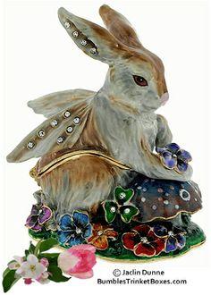 Fairy Rabbits | Trinket Box Item #EB-DD-65107 Rabbit Fairy