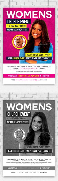 Women Church Flyer Psd Template