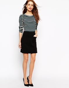 New Look Ponte A-line Skirt
