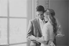 One of my favorite images from these awesome bridals. The window light and the emotion in this picture makes me so happy. They were soo cute and so in love.   Lori Romney Photography| Joseph Smith Memorial Building | LDS Bride | Formals