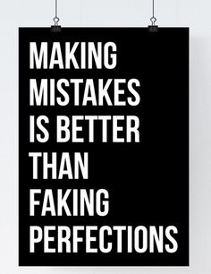 Make Mistakes // Typography Print Motivational by TheNativeState