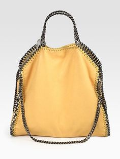 Stella McCartney Shaggy Deer Falabella Foldover Small Tote