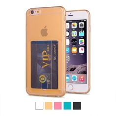 Credit Card Holder Case For iphone 6s Plus Card Slot Wallet Case For iPhone 6 Fundas Coque With Shock Proof Air Bag Version