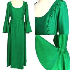 Post Etsy Items on Pinterest St Patrick's Day Dress, St Patrick's Day Outfit, Outfit Of The Day, Occasion Dresses, Day Dresses, Dresses For Sale, Dress Sale, Maxi Dress With Sleeves, Silk Dress