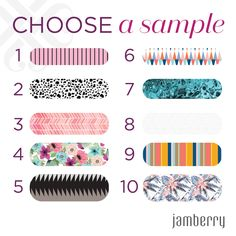 With a new catalog comes new sample options. Pick your favorite and send me a message with your address so you can take the 7 day challenge with these new beauties!!
