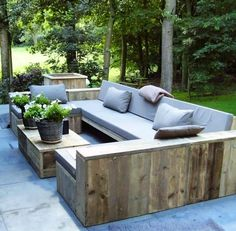 Image of: wood patio furniture ideas pallet outdoor pallet outdoor furniture ideas creative wooden tent Garden Seating, Outdoor Seating, Outdoor Rooms, Outdoor Living, Outdoor Decor, Outdoor Lounge, Outdoor Pallet, Outdoor Sectional, Pallet Garden Furniture