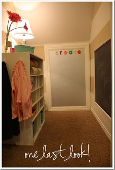 Since we don't have a playroom, I want to do something like this in the closet with storage under the stairs...maybe a small book nook and toy shelves?