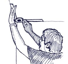 Using an angle finder to measure corner angle for crown molding
