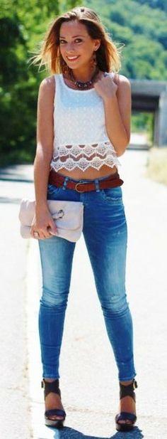 Crochet Top - Looks  Shoes