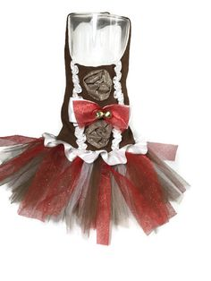 Gingerbread Pup Tutu by CoconutCoutureDiva on Etsy
