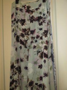 Mint Velvet Print Silk Maxi Skirt
