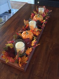 Fall Table Centerpieces, Thanksgiving Centerpieces, Thanksgiving Table, Fall Decorations, Creation Deco, Autumn Decorating, Deco Floral, Fall Projects, Deco Table