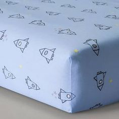 Circo® Woven Fitted Crib Sheet - Space Explorer