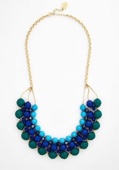 Quest for the Best Necklace. When it comes to accessories, only the best will do, and this beaded necklace fits the bill! #green #wedding #modcloth