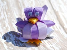 Bird Ribbon Sculpture Hair Clip  Other Colors by BelleandRoseBows, $3.95
