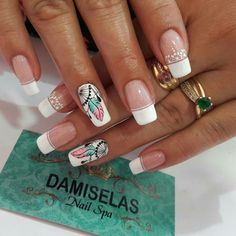 Perfect Nails, Gorgeous Nails, Love Nails, Fun Nails, Pretty Nails, French Nails, Acrylic Nail Designs, Nail Art Designs, Dream Catcher Nails