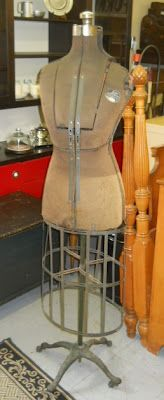 Antique ACME Ellanam Adjustable Dress Form dress form dating to 1915 or shortly after.