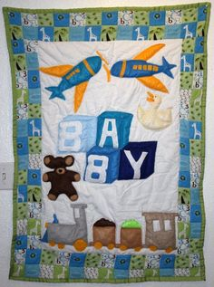 Handmade Baby Quilt  Baby Blocks by ababysplace on Etsy, $100.00