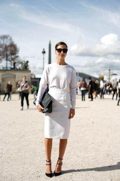 Paris Fashion Week white on white