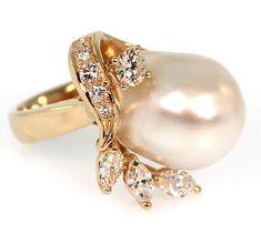 South Sea Pearl & Diamond Ring