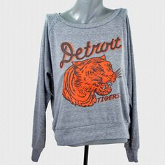 Detroit Tigers Sweatshirt Vintage 1935 Penant Inspired Design Womens Pullover by wethouse on Etsy https://www.etsy.com/listing/124684275/detroit-tigers-sweatshirt-vintage-1935