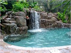 Waterfall into a pool - awesome!