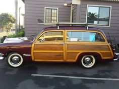 1950 Ford Country Squire wagon.